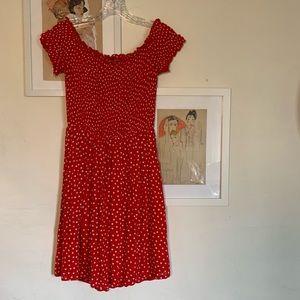 H&M red polka dot dress